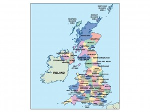 united kingdom presentation map