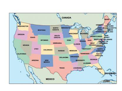 usa presentation map