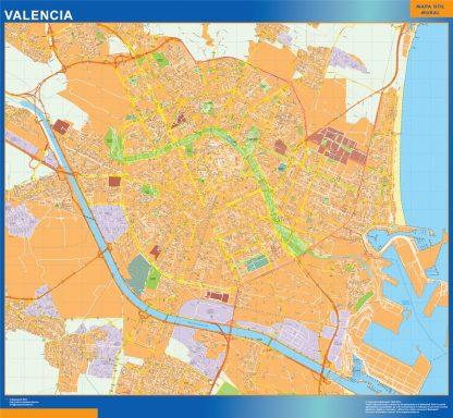 valencia wall map