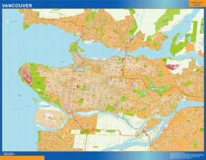 vancouver wall map