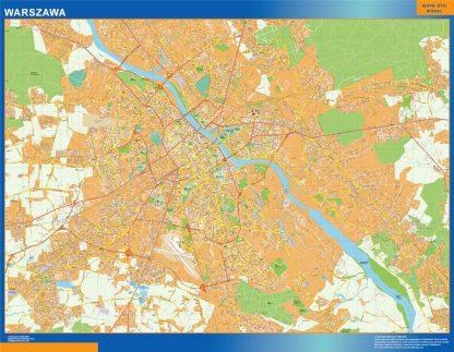 varsovia Wall Map