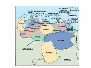 venezuela presentation map