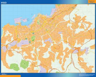 vigo wall map