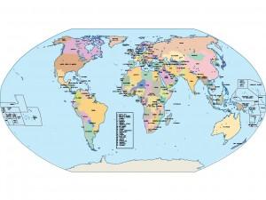 world globe presentation map