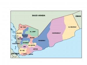 yemen presentation map