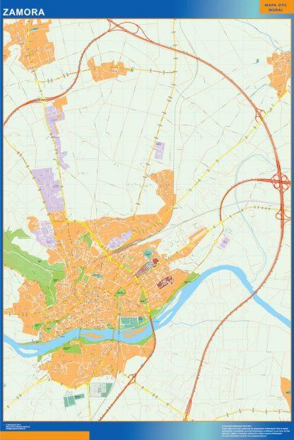 zamora wall map