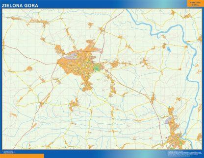 zielona gora Wall Map