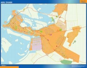 Abu Dhabi magnetic map
