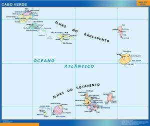 Cabo Verde framed maps