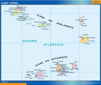 Cabo Verde framed maps