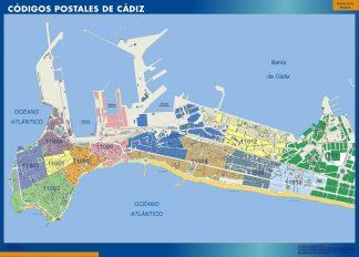Cadiz Codigos Postales mapa magnetico