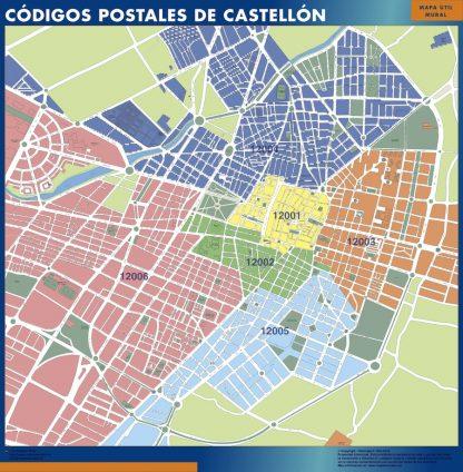 Castellon Codigos Postales mapa magnetico