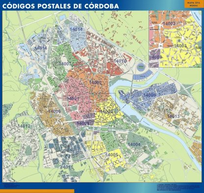 Cordoba Codigos Postales mapa magnetico