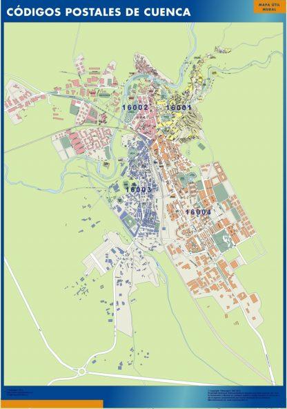 Cuenca Codigos Postales mapa magnetico