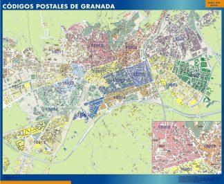 Granada Codigos Postales mapa magnetico
