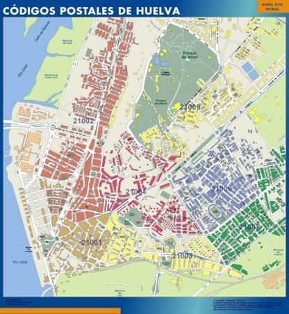Huelva Codigos Postales mapa magnetico
