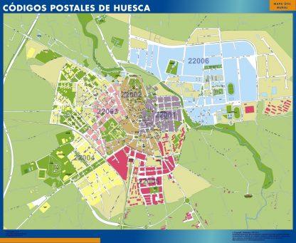 Huesca Codigos Postales mapa magnetico