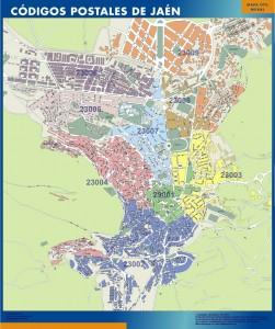 Jaen Codigos Postales mapa magnetico