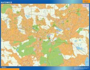 Katowice Mapy ścienne