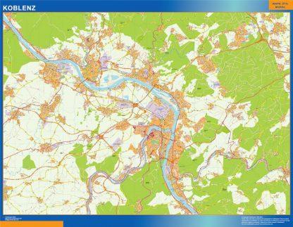Koblenz Wandkarten