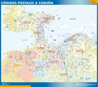 La Coruna Codigos Postales mapa magnetico
