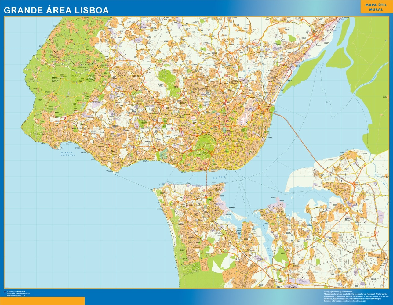 mapa digital lisboa Lisboa Mapa Grande Area Magnetico – Netmaps. Mapas de España y del  mapa digital lisboa