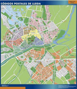 Lleida Codigos Postales mapa magnetico