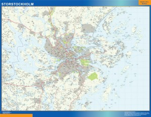 Magnetic map Storstockholm