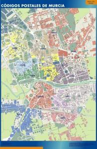 Murcia Codigos Postales mapa magnetico