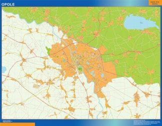Opole Mapy ścienne