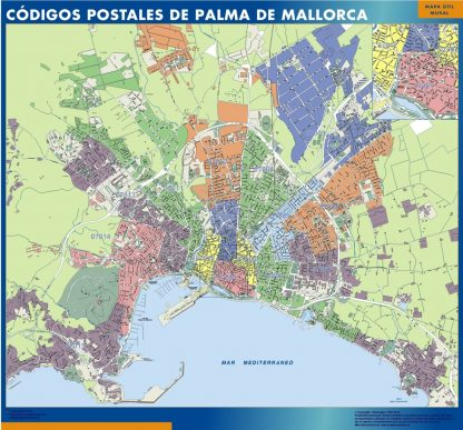 Palma De Mallorca Codigos Postales mapa magnetico