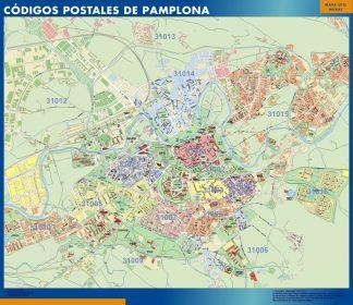 Pamplona Codigos Postales mapa magnetico