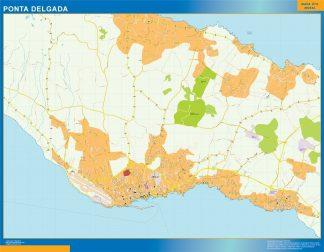 Ponta Delgada Mapa Magnetico