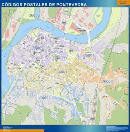 Pontevedra Codigos Postales mapa magnetico