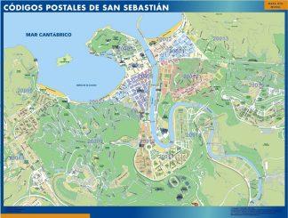 San Sebastian Codigos Postales mapa magnetico