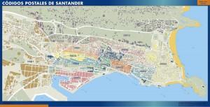 Santander Codigos Postales mapa magnetico