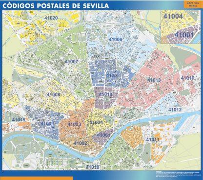 Sevilla Codigos Postales mapa magnetico