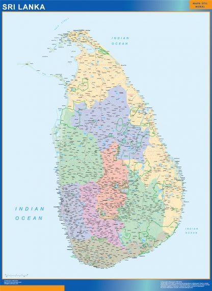 Sri Lanka vinyl sticker maps