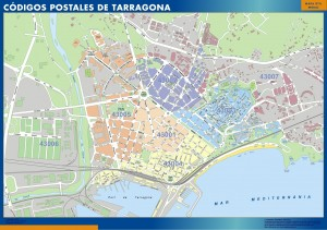 Tarragona Codigos Postales mapa magnetico