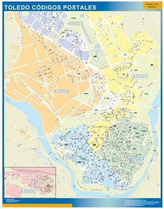 Toledo Codigos Postales mapa magnetico