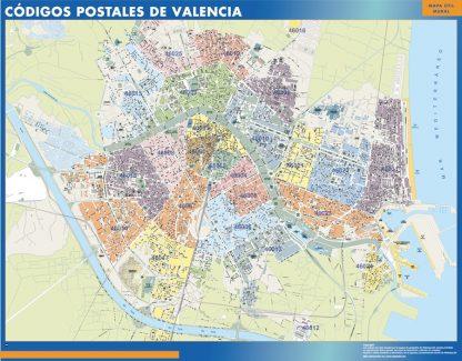 Valencia Codigos Postales mapa magnetico