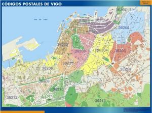 Vigo Codigos Postales mapa magnetico