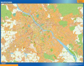 Warszawa Mapy ścienne