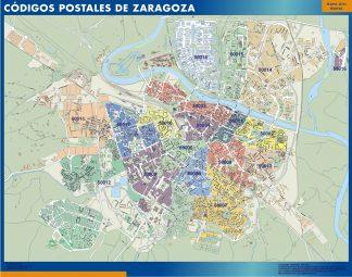 Zaragoza Codigos Postales mapa magnetico