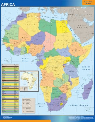 africa political framed map