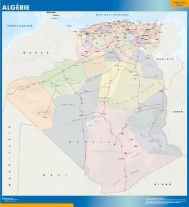algeria vinyl sticker maps