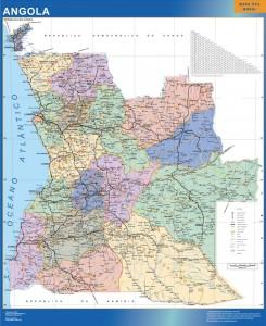 angola vinyl sticker maps