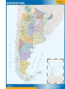 argentina framed maps