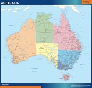 australia framed maps