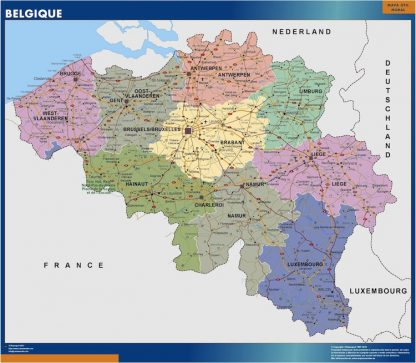 belgium vinyl sticker maps